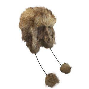 NWT Jeanne Simmons Faux Fur Pom Pom Winter Hat OS